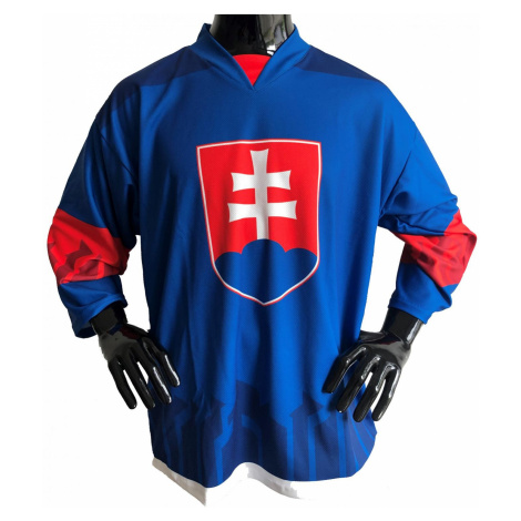Hokejový dres Slovensko - modrý Modrá / Bílá