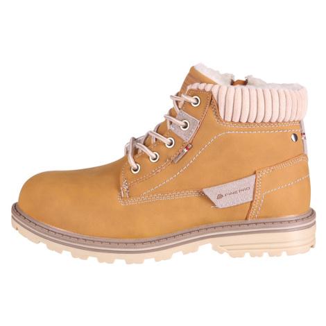 ALPINE PRO NEWHALENO Dětská zimní obuv městská KBTP201115 mustard