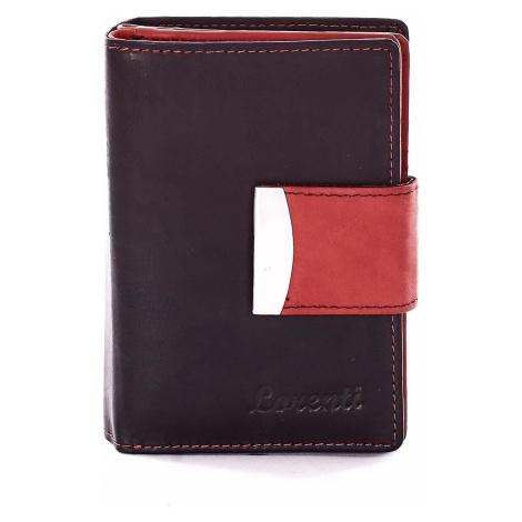 Černá peněženka s červeným lemováním ONE SIZE