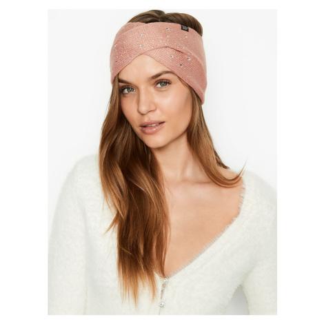Victorias Secret růžová zimní čelenka Ear Warmer Headband Victoria's Secret