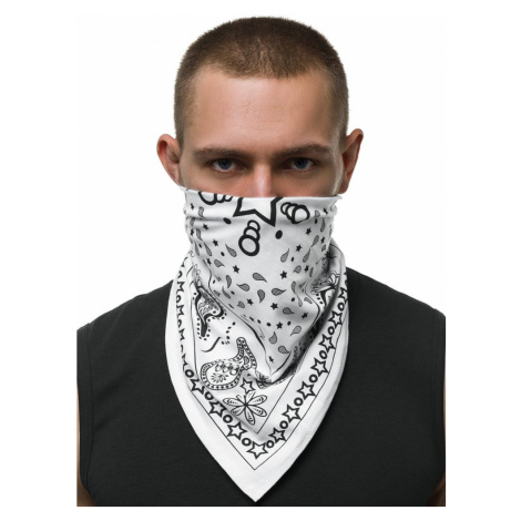 Stylový bílý šátek BND109