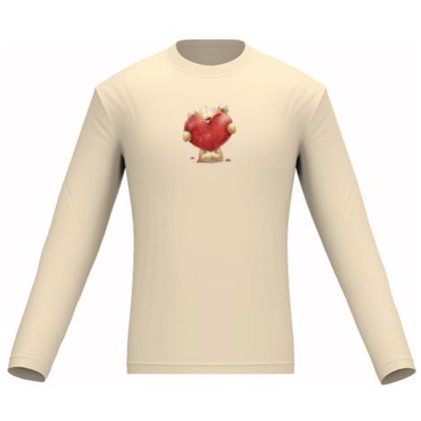 Pánské tričko dlouhý rukáv Teddy with heart
