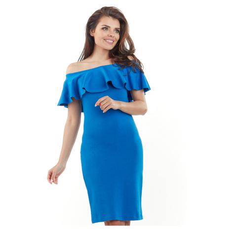 Modré šaty A221