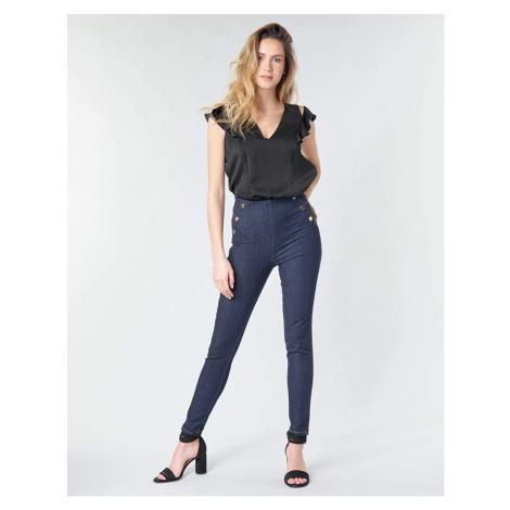 Guess GUESS dámské tmavě modré kalhoty s vysokým pasem