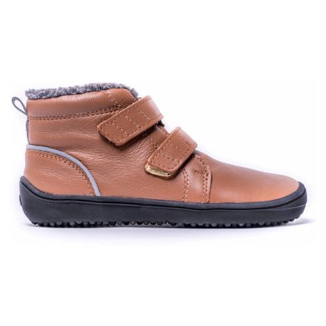 Dětské zimní barefoot boty Be Lenka Penguin - Chocolate 35