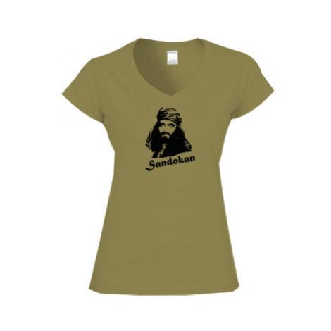 Dámské tričko V-výstřih Sandokan