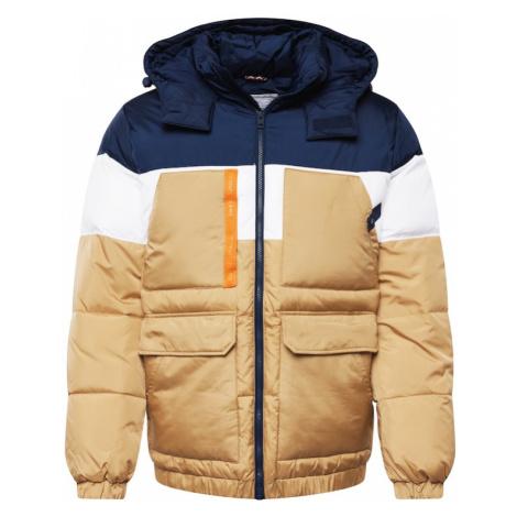 Tommy Jeans Přechodná bunda písková / bílá / námořnická modř / oranžová Tommy Hilfiger