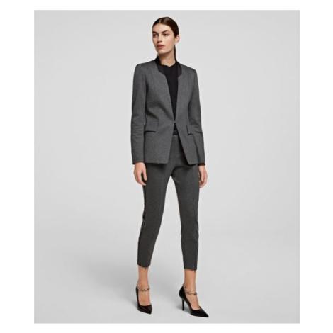 Kalhoty Karl Lagerfeld Punto Pants W/ Logo Tape - Šedá