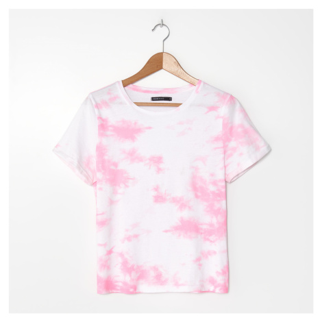 House - Tričko s batikovaným motivem - Růžová