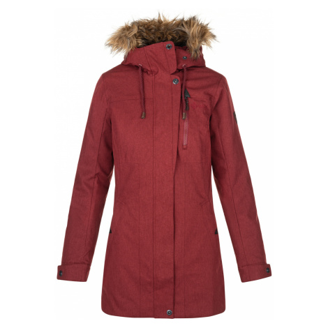 KILPI Dámský zimní kabát PERU-W NL0072KIDRD Červená