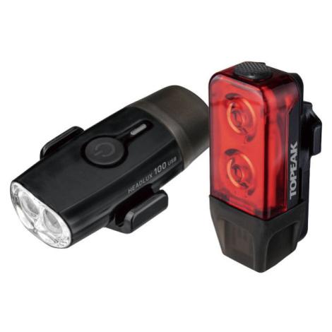 Topeak POWERLUX USB COMBO - Sada světel na kolo