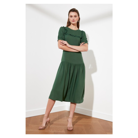 Trendyol Green Short Sleeve Dress
