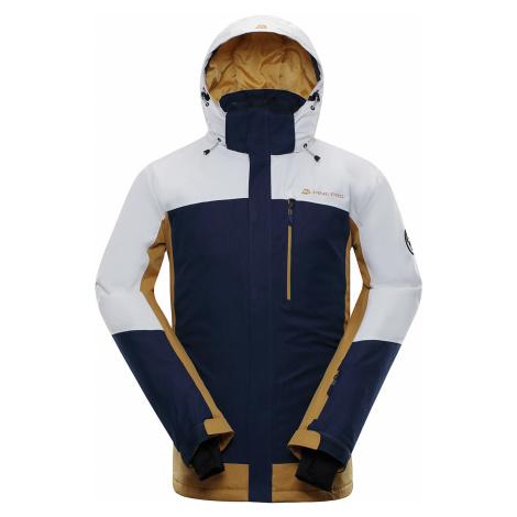 ALPINE PRO SARDAR 3 Pánská lyžařská bunda MJCP369000 bílá