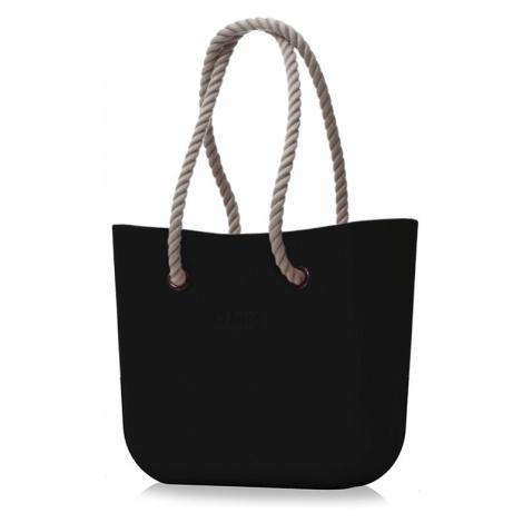 Kabelka obag černá s provazem natural O bag