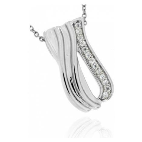 Stříbrný dámský přívěsek s kamínky 7300