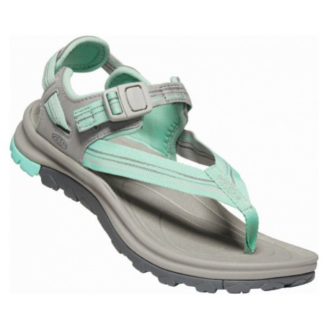 KEEN TERRADORA II TOE POST W Dámské sandály 10012459KEN01 light gray/ocean wave