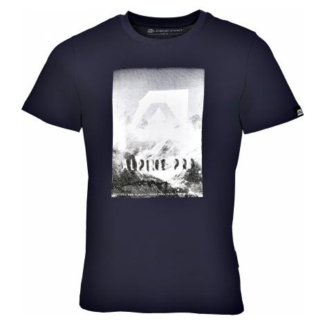 Pánské triko Alpine Pro ABIC 4 - tmavě modrá