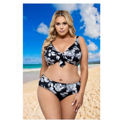 Lorin Dvoudílné plavky Heather černé s květy