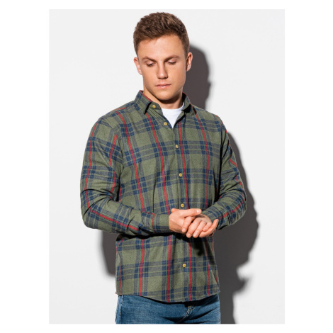 Ombre Clothing Men's shirt with long sleeves K562