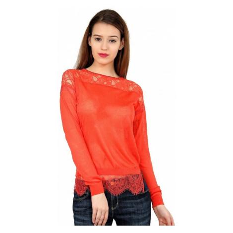 Guess GUESS oranžový svetr