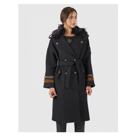 Kabát La Martina Woman Cotton Twill Trench - Černá
