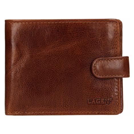 Pánská kožená peněženka Lagen Mareto - světle hnědá