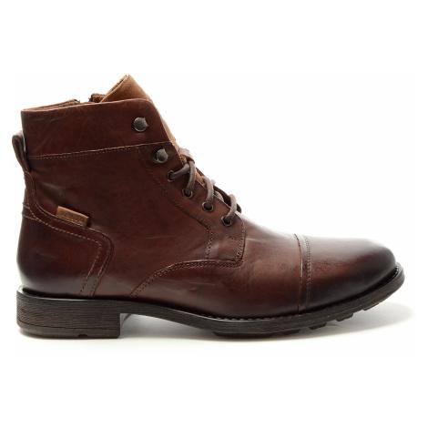 Kožené kotníkové boty Levi´s Reddinger pánské hnědé