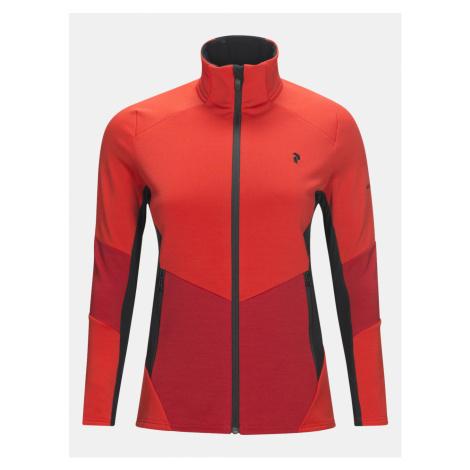Mikina Peak Performance W Helo M Z Sweatshirt - Červená