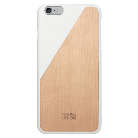 Kryt na iPhone 6 Plus – Clic Wooden White Native Union