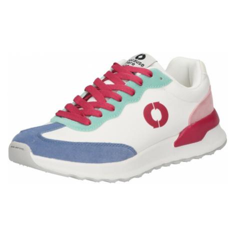 ECOALF Tenisky 'PRINCE' bílá / kouřově modrá / mátová / růžová / pitaya