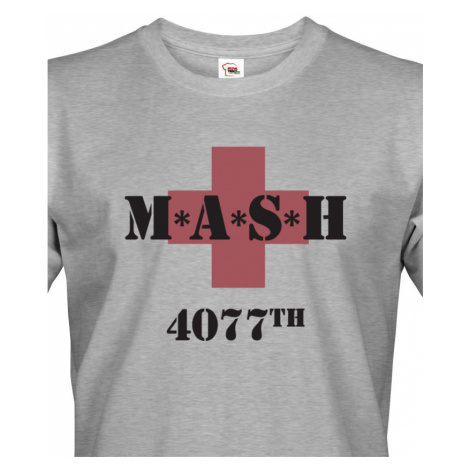 Tričko s potiskem legendárního seriálu MASH 4077 BezvaTriko