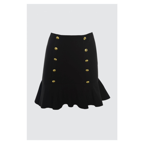 Trendyol Black Button Detailed Skirt