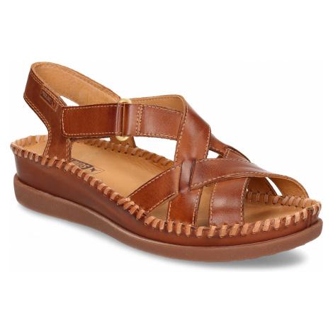 Hnědé dámské kožené sandály Pikolinos
