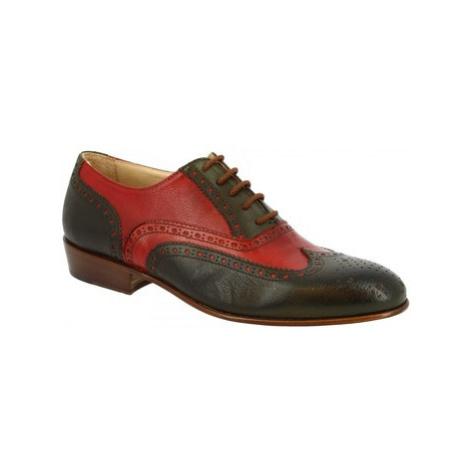 Leonardo Shoes 037 MARANJA VERDE Oranžová
