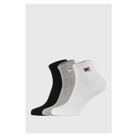 3 PACK tří barev kotníkových ponožek FILA