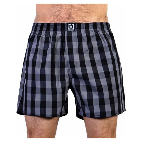 HORSEFEATHERS pánské šedo-černé kostičkované trenýrky Sin Boxer Shorts-Gray