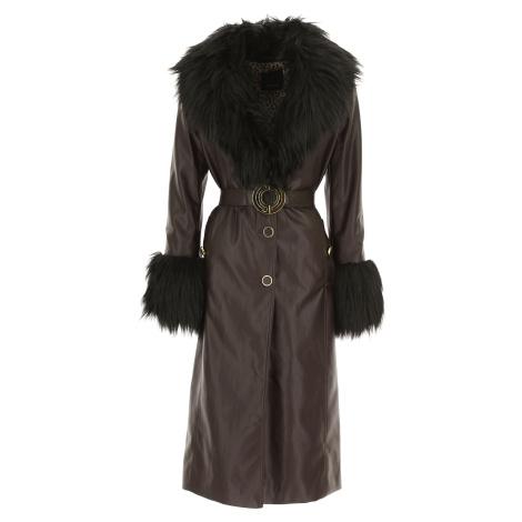 Hnědý kožený kabát - PINKO