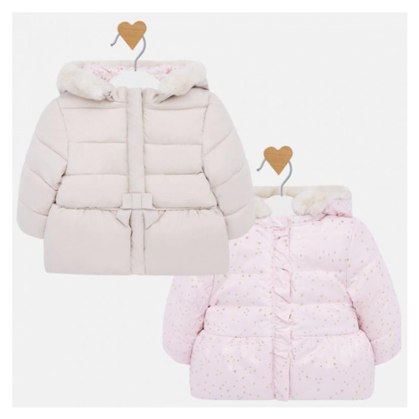 Dívčí zimní, oboustranná bunda Mayoral 2410 | růžová