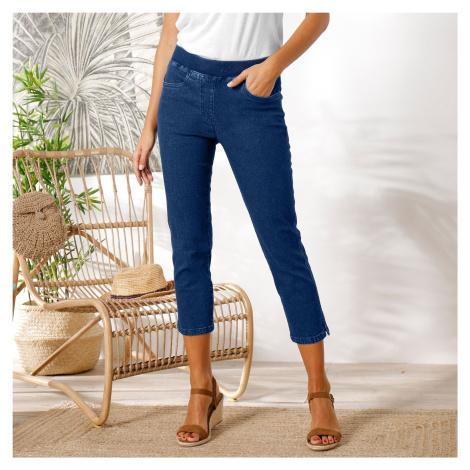 Blancheporte 3/4 džínové kalhoty s pružným pasem denim