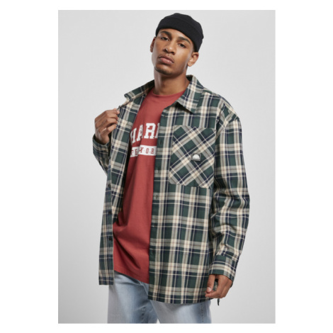 Southpole Check Flannel Shirt green