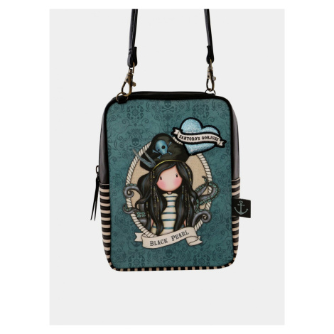 Santoro modré crossbody kabelka Gorjuss Pirates Black Pearl Santoro London