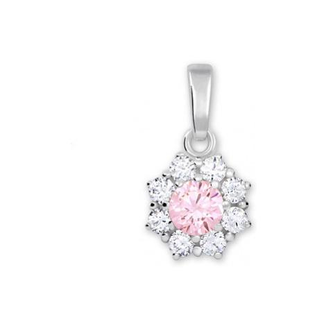 Brilio Silver Stříbrný přívěsek s krystalem 001 04 - růžový