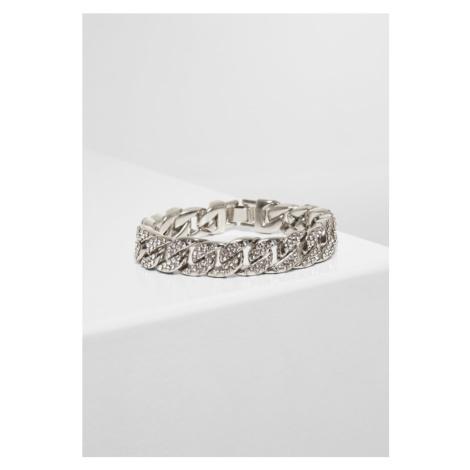 Big Bracelet With Stones - silver Urban Classics