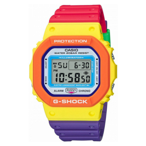 """Casio Pride G-Shock DW 5610DN-9ER """"Psychedelic Multi Colors Series"""""""
