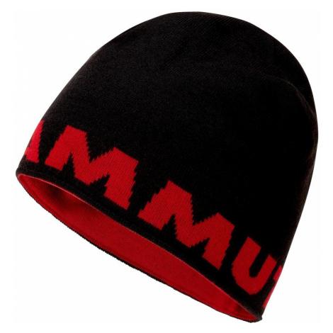 Čepice Mammut Logo Beanie - černá / červená