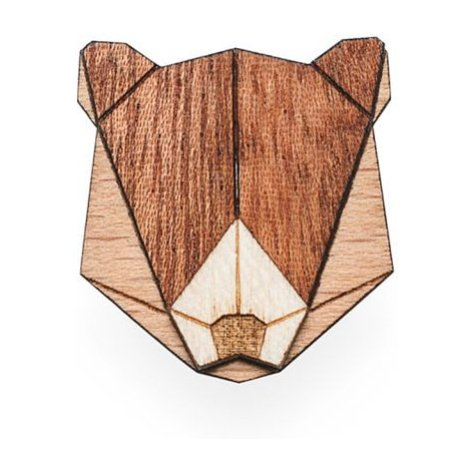Dřevěná brož Bear Brooch