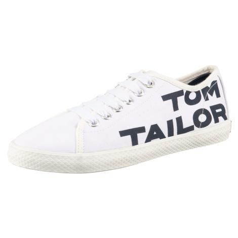 TOM TAILOR Tenisky bílá / tmavě modrá