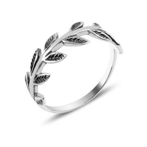 OLIVIE Stříbrný prstýnek LÍSTKY Z RŮŽÍ 3908