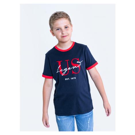 Big Star Man's T-shirt_ss T-shirt 152081 Blue Knitted-403