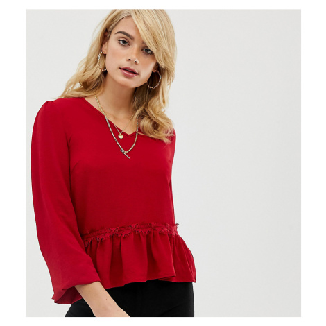 Y.A.S Tall Lumine frill hem blouse